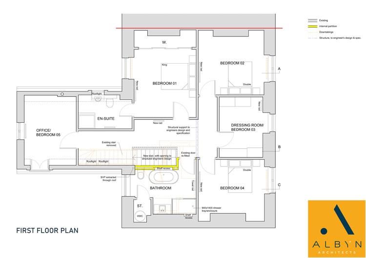 1st Floor Plan - Bonnymuir House