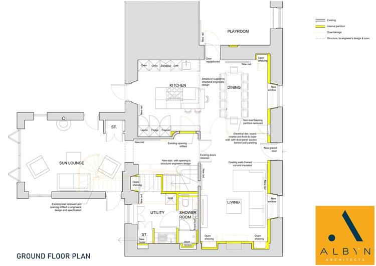 Ground Floor Plan - Bonnymuir House